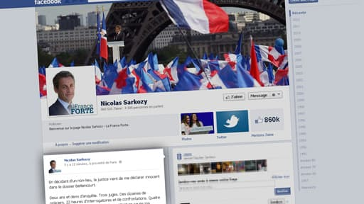 C'est sur Facebook que Nicolas Sarkozy a choisi de réagir à son non-lieu.