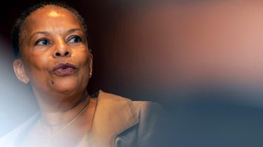 Christiane Taubira le 31 août 2012 à Bordeaux. Lors de sa première sortie en tant que ministre, un détenu avait pris la fuite.