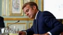 Emmanuel Macron ce mardi matin au palais de l'Élysée.
