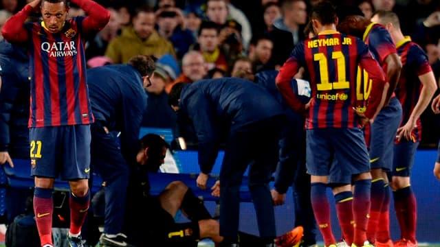 Victor Valdès, blessé face au Celta Vigo