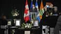 Justin Trudeau lors d'un hommage aux victimes.