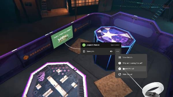 La publicité va être intégrée directement dans les applications de l'Oculus