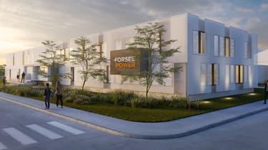 Le futur site de production de Forsee Power près de Poitiers (Image de synthèse)