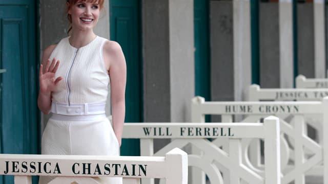L'actrice Jessica Chastain, ce vendredi 5 septembre à Deauville.