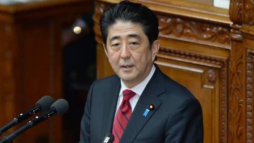 Shinzo Abe, le 24 janvier dernier devant la Diète japonaise.