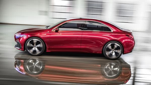 Racée et dynamique, c'est ce que promet cette petite Mercedes.
