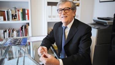 Yvon Collin, sénateur du Tarn-et-Garonne, le 3 mars 2015 chez lui, à Montauban.