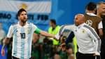 Messi et Sampaoli avec l'Argentine en 2018