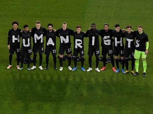 L'équipe d'Allemagne avant d'affronter l'Islande