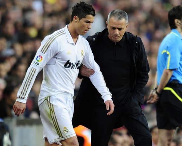 Mourinho et Cristiano Ronaldo.