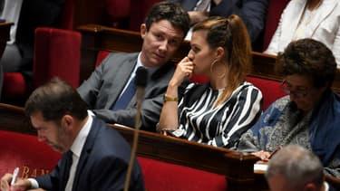Benjamin Griveaux et Marlène Schiappa à l'Assemblée le 2 octobre 2018.