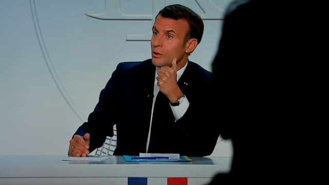Emmanuel Macron, président de la République, à Paris le 14 octobre 2020