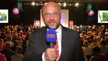 Martin Schulz a été réélu président du Parlement européen, ici lors d'un meeting en France durant les Européennes 2014