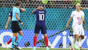 Kylian Mbappé après son raté contre la Suisse à l'Euro 2021