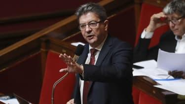 Jean-Luc Mélenchon lors d'une séance de questions au gouvernement à l'Assemblée nationale, le 26 juillet 2017