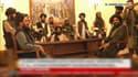 Des images tournées par Al Jazeera dimanche 15 août montrent les talibans dans le palais présidentiel, à Kaboul.