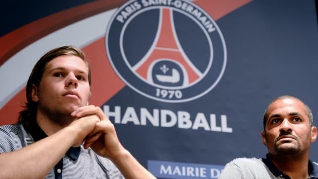 Mikkel Hansen et Didier Dinart