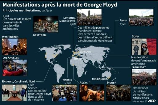 Manifestations dans le monde après la mort de George Floyd