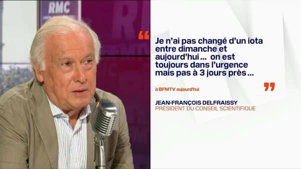 """Jean-François Delfraissy assure, le 26 janvier 2021, ne pas avoir """"changé d'un iota"""" son discours sur un éventuel reconfinement."""