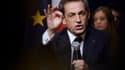 Nicolas Sarkozy, lors de son meeting à Vélizy-Villacoublay, lundi 6 octobre.
