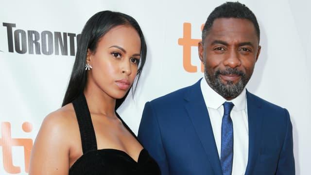 Sabrina Dhowre et Idris Elba en 2017