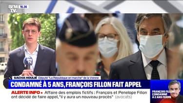 """Époux Fillon condamnés: pour Sacha Houlié, """"on jette l'opprobre sur l'institution judiciaire, ce n'est pas honnête"""""""