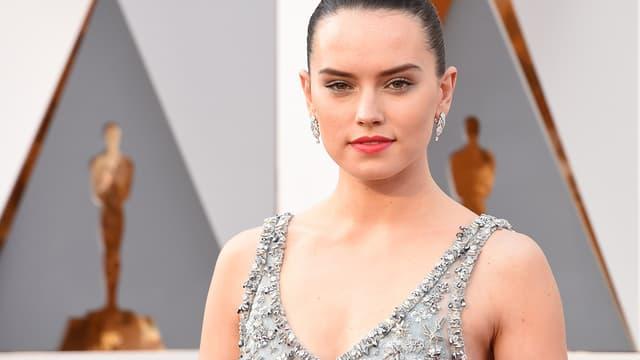 L'actrice Daisy Ridley le 28 février 2016 aux Oscars