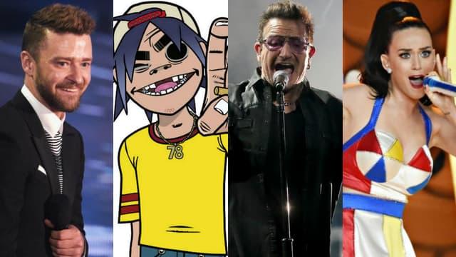 Justin Timberlake, Gorillaz, U2 et Katy Perry devraient sortir leurs albums respectifs en 2017