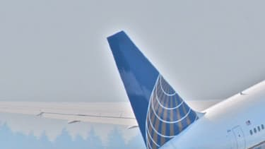 Un Boeing 767 de la compagnie United Airlines décolle de l'aéroport de Newark.