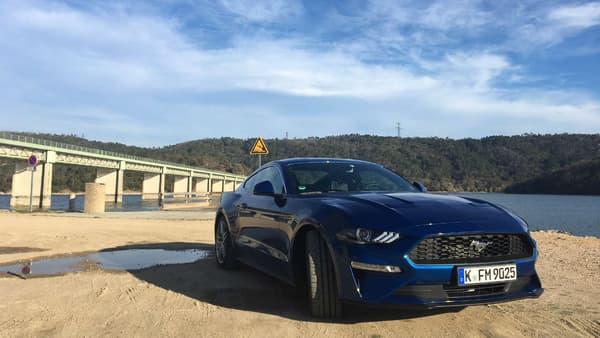 Comme la précédente, cette Mustang 2018 dispose de deux motorisations: un moteur quatre cylindres EcoBoost de 290 chevaux (en photo) ou un V8 de 450 chevaux.