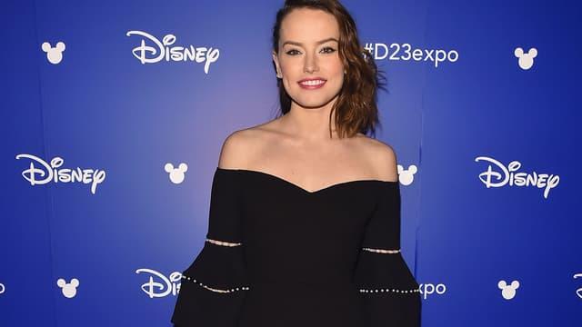 Daisy Ridley le 15 juillet lors de la Disney's D23 EXPO 2017 à Anaheim, en Californie.