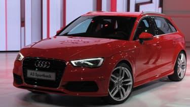 L'Audi A3 un des modèles présentés par le constructeur allemand, qui mise sur l'international