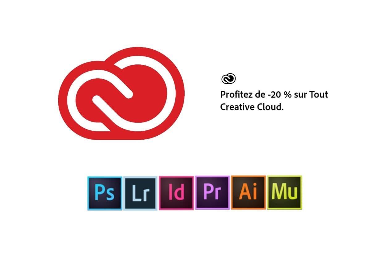 Profitez de 20% sur Adobe Creative Cloud !