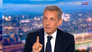 Nicolas Sarkozy sur le plateau de TF1, le 3 mars 2021.