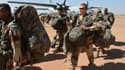Des soldats fançais débarquant au Mali en janvier 2013