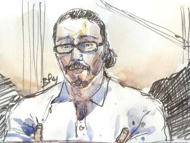 """Le """"logeur de Daesh"""", Jawad Bendaoud, lors de son procès le 24 janvier 2018."""