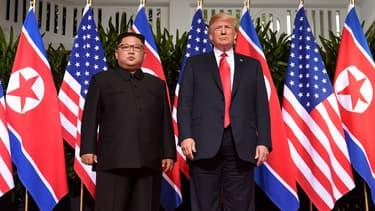 Donald Trump et Kim Jong-un en juin 2018.