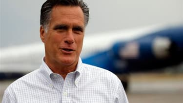 Mitt Romney dans l'Iowa. Alors que les chiffres de l'emploi au mois d'août publiés vendredi sont mauvais, le candidat républicain et Barack Obama entament le sprint final qui doit les conduire à leur duel du 6 novembre pour la Maison blanche . /Photo pris
