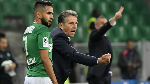 Ryad Boudebouz et Claude Puel