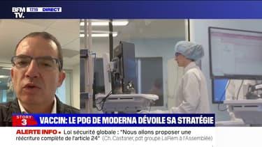 """Vaccin anti-Covid: le PDG de Moderna, Stéphane Bancel, """"confirme une efficacité à 94%"""""""