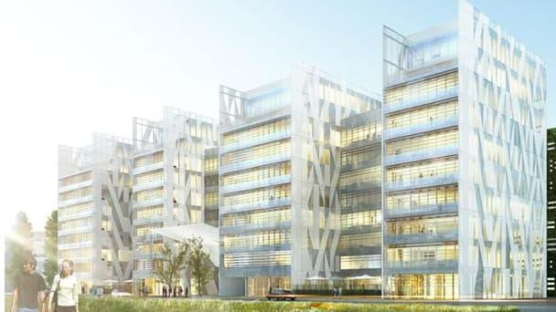 Le projet Zenora: ancienne friche industrielle reconvertie en un ensemble immobilier de bureaux. Il va notamment accueillir le siège de Coca-Cola Entreprise
