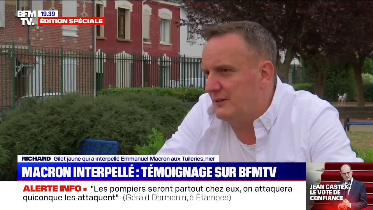 """Pour le gilet jaune qui a interpellé Emmanuel Macron mardi , le Président """"devrait écouter"""" les figures du mouvement"""