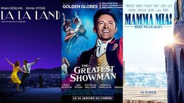 """""""La La Land"""", """"The Greatest Showman"""" et """"Mamma Mia: Here We Go Again"""" au cinéma"""