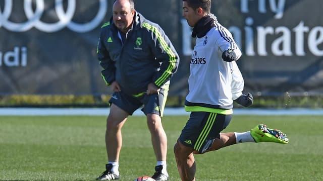 Cristiano Ronaldo et Rafael Benitez