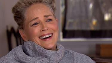 Sharon Stone sur la chaîne américaine CBS.