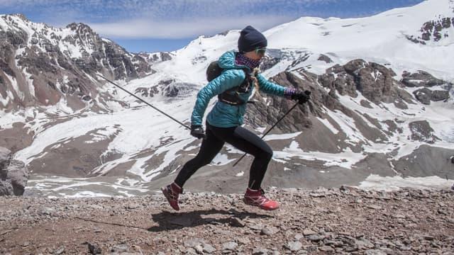 Fernanda Maciel lors de l'ascension de l'Acongagua