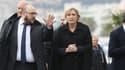 Marine Le Pen en meeting à Nice, seule région où elle arriverait en tête au second tour selon les derniers sondages