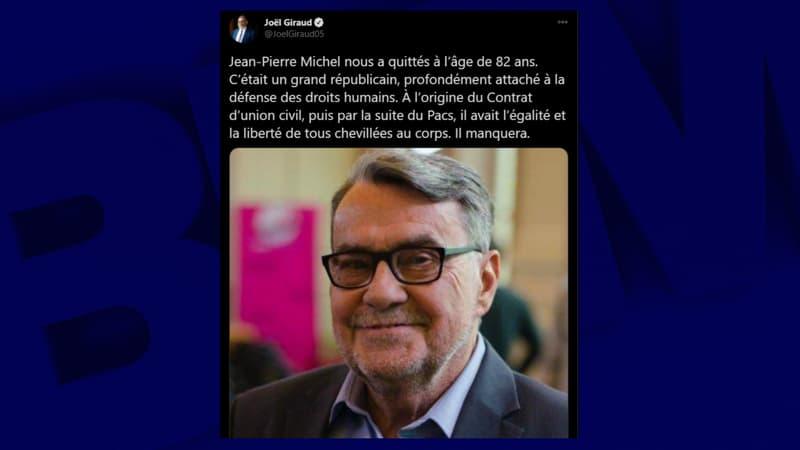 Mort de l'ancien parlementaire Jean-Pierre Michel, un des initiateurs du Pacs