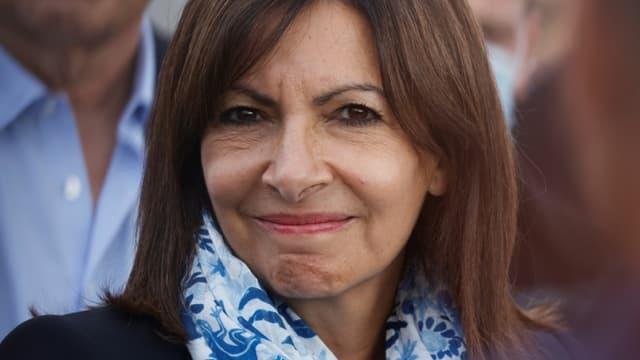 La maire de Paris et candidate à la présidentielle Anne Hidalgo, le 16 septembre 2021 à Paris