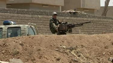 Au checkpoint de Mossoul, la deuxième ville d'Irak, ce week-end.